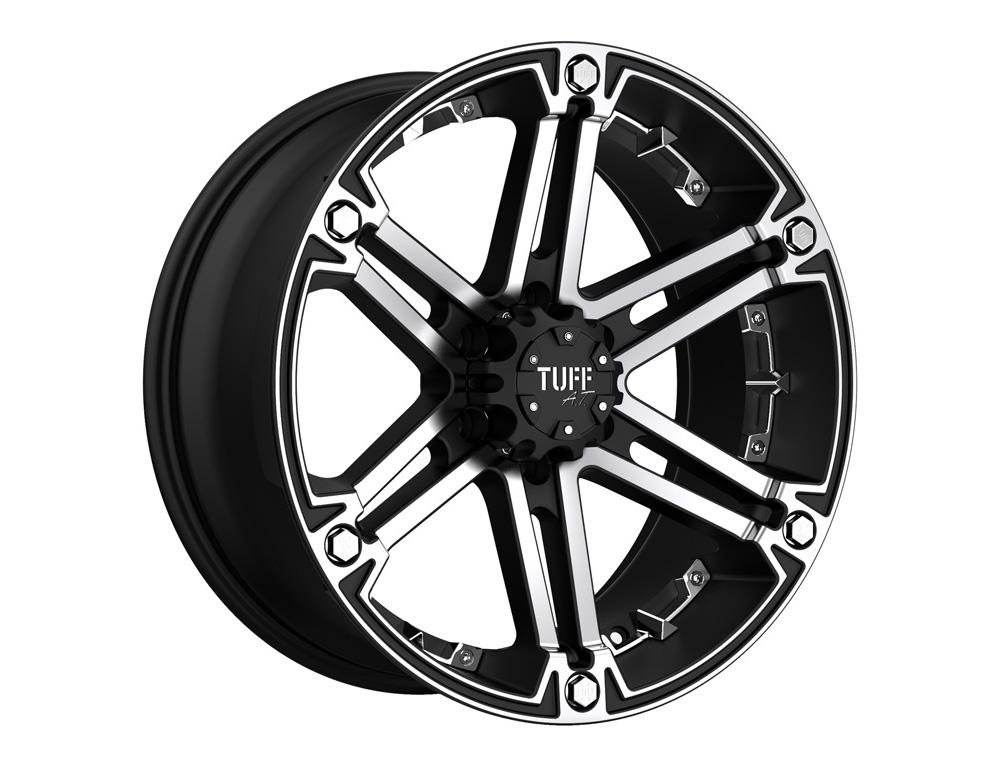 Tuff A.T. T01 Flat Black w/Machined Face And Chrome Inserts Wheel 16x8 6x139.7 -13mm - 1680T01-36140F08C