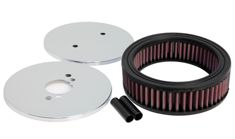 K&N Custom Round Racing Assembly Red 1.5in ID / 5.875in OD / 1.75in Height - 56-1390