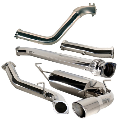 TurboXS TurboBack Race Exhaust System Subaru WRX 5dr 08-12 RACE USE ONLY - txs-W08H-TBE-RP
