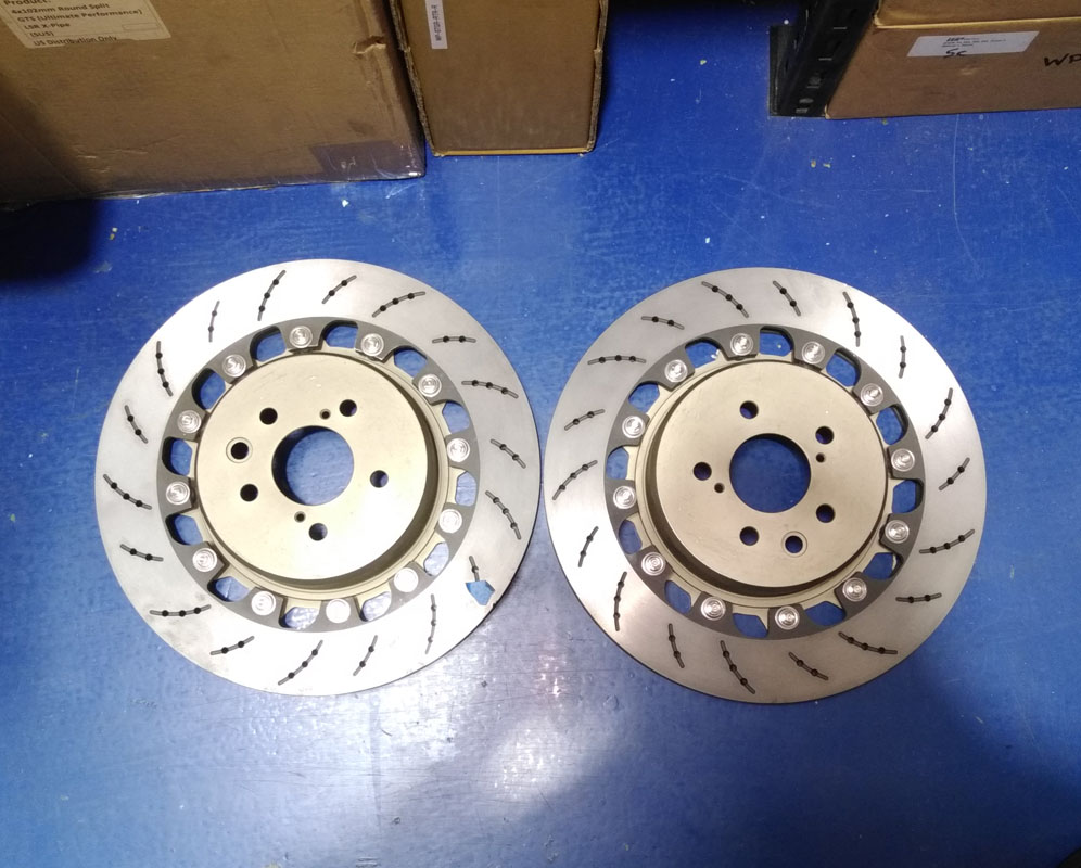 WP Pro Rear 385x30m 2pc Brake Rotor Upgrade Round USED Nissan GT-R R35 09-17 - WP-R35-RTR-R-USED