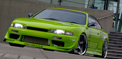 Vertex Ridge Wide Body Kit Nissan S14 240SX 97-98 - RIDGE-S14K-FK