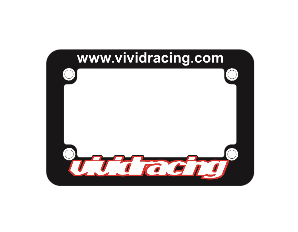 Vivid Racing UTV | Motorcycle License Plate Frame - VR-PLTFRM-UTV