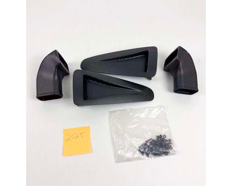 Agency Power AP-GTR-612M Hood Vent Matte Carbon Fiber (Pairs) with Air Tunnel 393357971189 - 393357971189