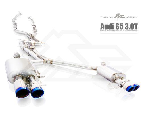 FI Exhaust Valvetronic Muffler Kit Audi S4 | S5 B8|B8.5 Sportback l 2009+ - AD-S4-CBV+TIP6389S*4+R2016OL+OBD-CAB-V