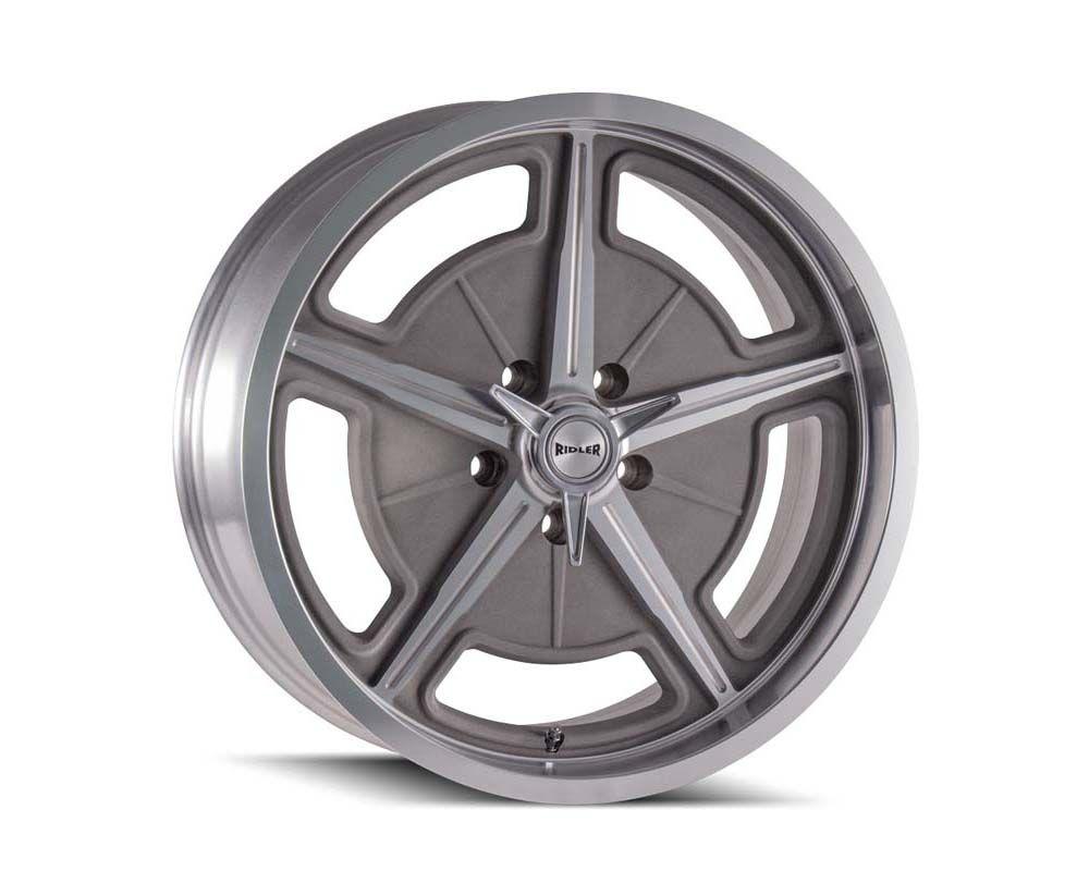 Ridler 605 Wheel 18x8 5x114.3 0mm Machined Spokes w/Deep Lip - 605-8865GMDEEP