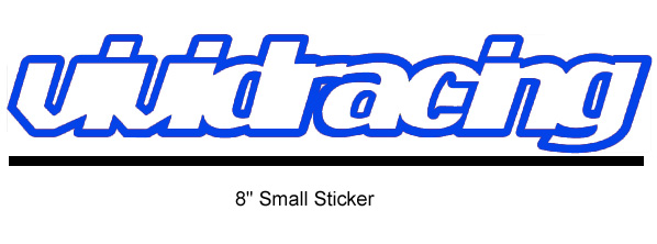 Vivid Racing Sticker - 8 Inch Small