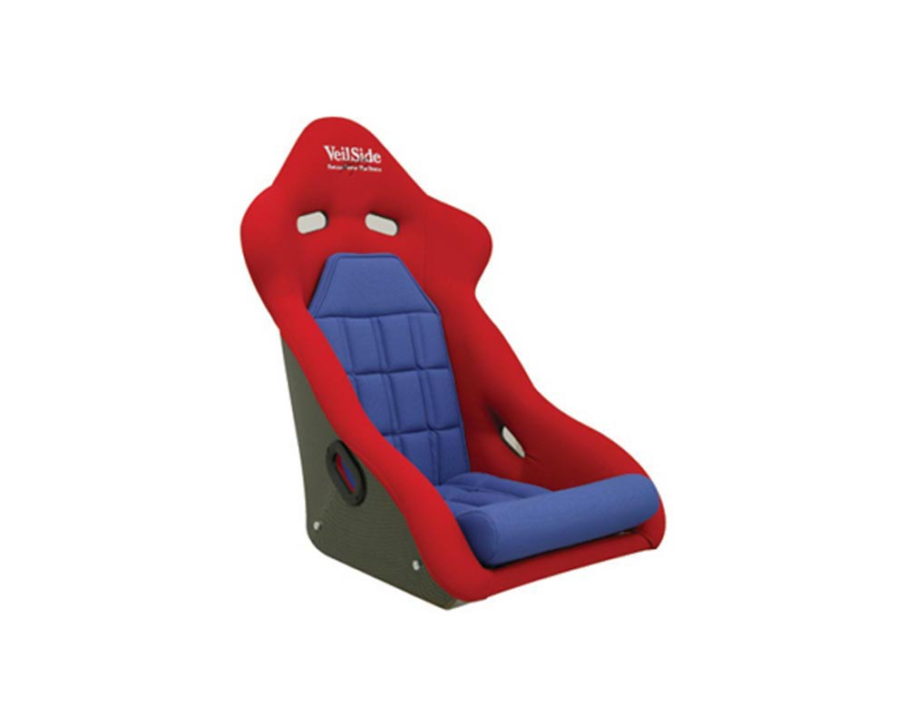 VeilSide D-1R Carbon Racing Seat Red/Blue - FA010-03BLC
