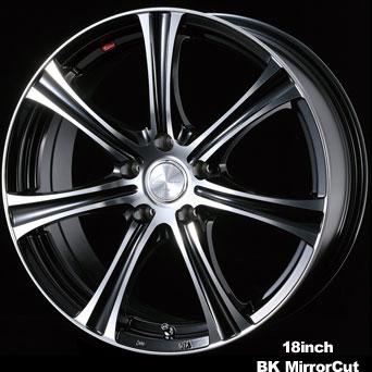 Weds Leonis KH 18X8.0 5X114.3 BK Mirror Cut Wheel - WDSLKH188-5X114.3BK