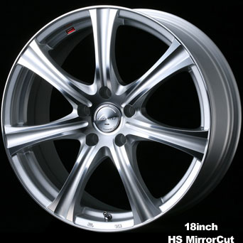 Weds Leonis KH 14X5.5 4X100 HS Mirror Cut Wheel - WDSLKH145.5-4X100HS