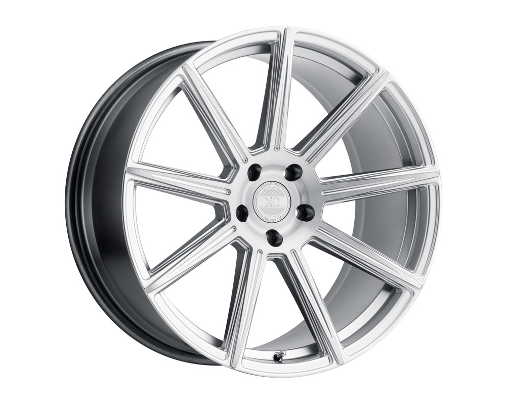 XO Luxury Wheels Vegas Silver W/Brushed Silver Face 20x9 5x114.30 15mm - 2090VGS155114S76