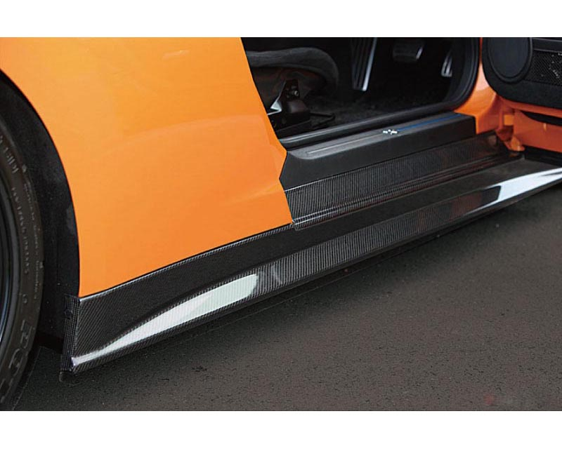 Zele Performance Carbon Fiber Side Skirt Set Nissan GT-R R35 09-18 - Z-CARB-SSKRT-GTR