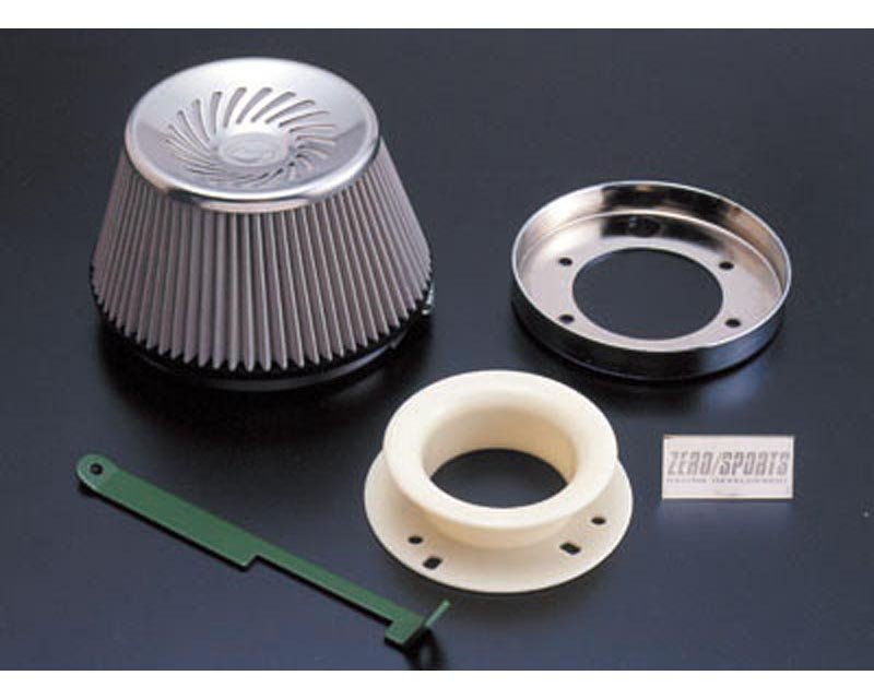 Zerosports Super Direct Flow Stainless Steel Cone Filter with Adapter Subaru WRX STI 02-07 - ZS-0412005