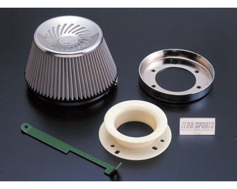 Zerosports Super Direct Flow Stainless Steel Cone Filter w/ Adapter Subaru Impreza GC8 93-01 - ZS-0412004