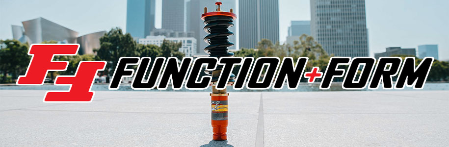 Function and Form coilover with logo