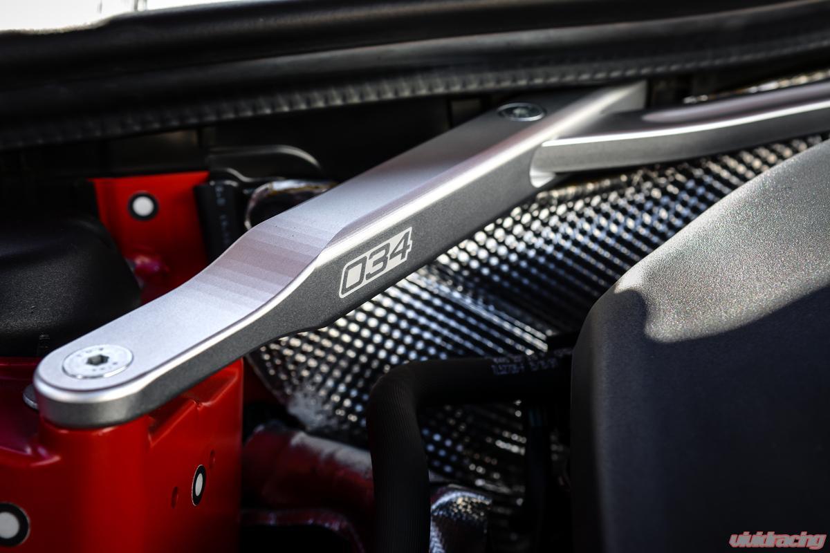 034 Motorsports Billet Aluminum Front Strut Brace Audi A4 B9 2017+ - 034-603