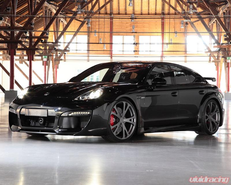 Techart Grandgt Carbon Aero Kit With Black Running Lights Porsche Panamera Turbo