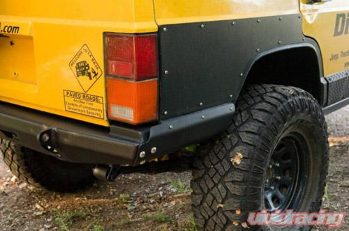 DirtBound Offroad Jeep Cherokee Rear Bumper Mojave Cut and Fold 86-01  Cherokee XJ Bare Steel