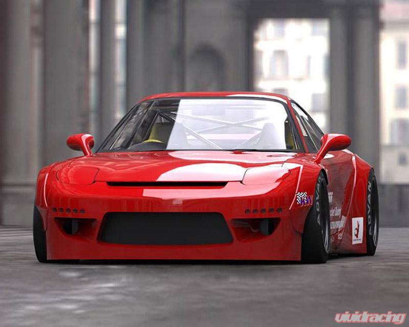 17040206 Greddy Rocket Bunny V2 Full Wide Body Kit Mazda Rx 7 Fd3s