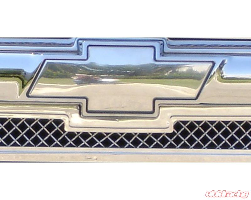 Trailblazer Grille Emblem 02 09 Chevrolet Ls Billet Bow Tie Front Plain Aluminum Polished