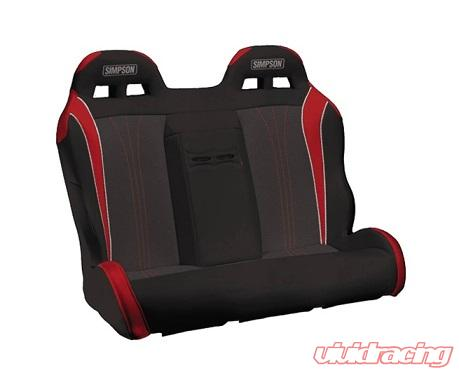 105 510 326 Simpson Racing Vortex Utv Rear Seat Bench Black Red Silver For Polaris Rzr 4 800 900