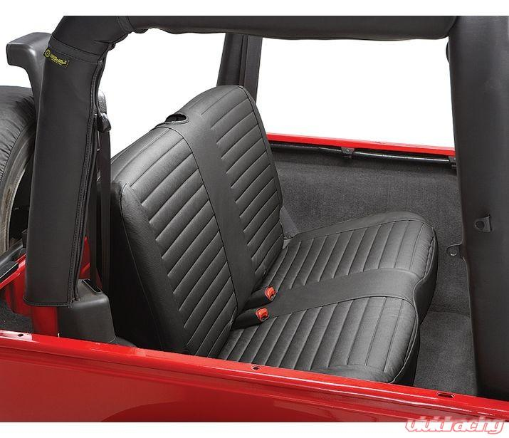 Jeep Wrangler Seat Covers >> Jeep Tj Seat Covers Rear Bench 97 02 Jeep Wrangler Tj Black Denim Each Bestop