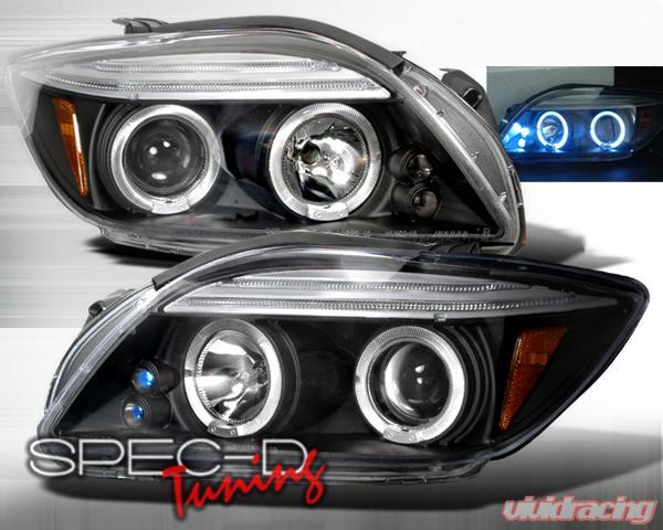 Scion Tc Headlights >> Specd Black Halo Led Projector Headlights Scion Tc 05 10