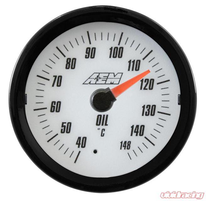 Aem Analog Oil Transmission Water Temperature Metric