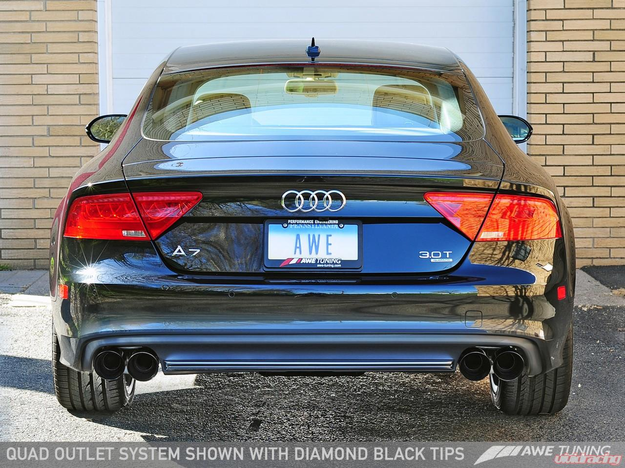 Awe Tuning Touring Edition Exhaust System W Quad Outlet Chrome Silver Tips Audi A7 C7 3 0t 12 15 3015 42074