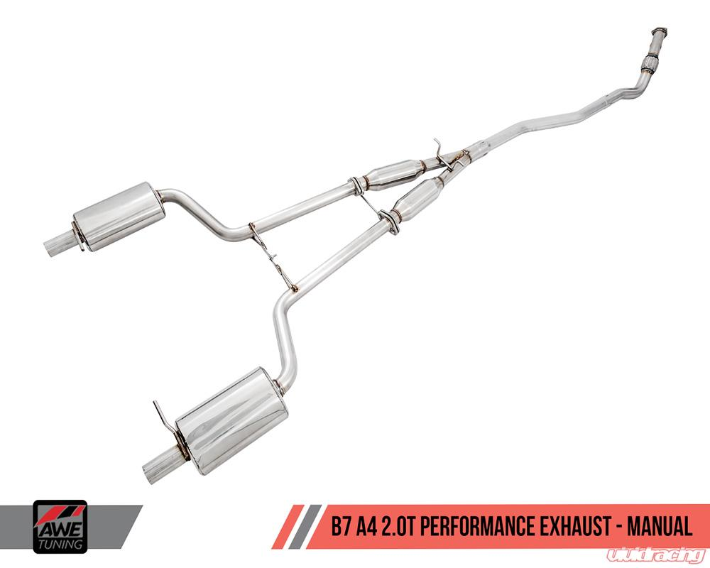 3040 33014 awe tuning performance exhaust w downpipe dual rh vividracing com Audi A4 B6 2003 Audi A4 Exhaust System