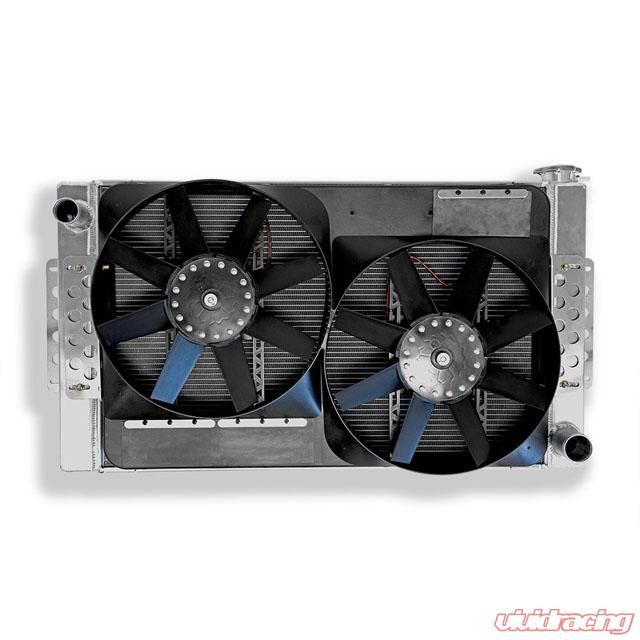 Flex A Lite Extruded Core Universal Radiator 34 X 20 With Dual Electric Fans