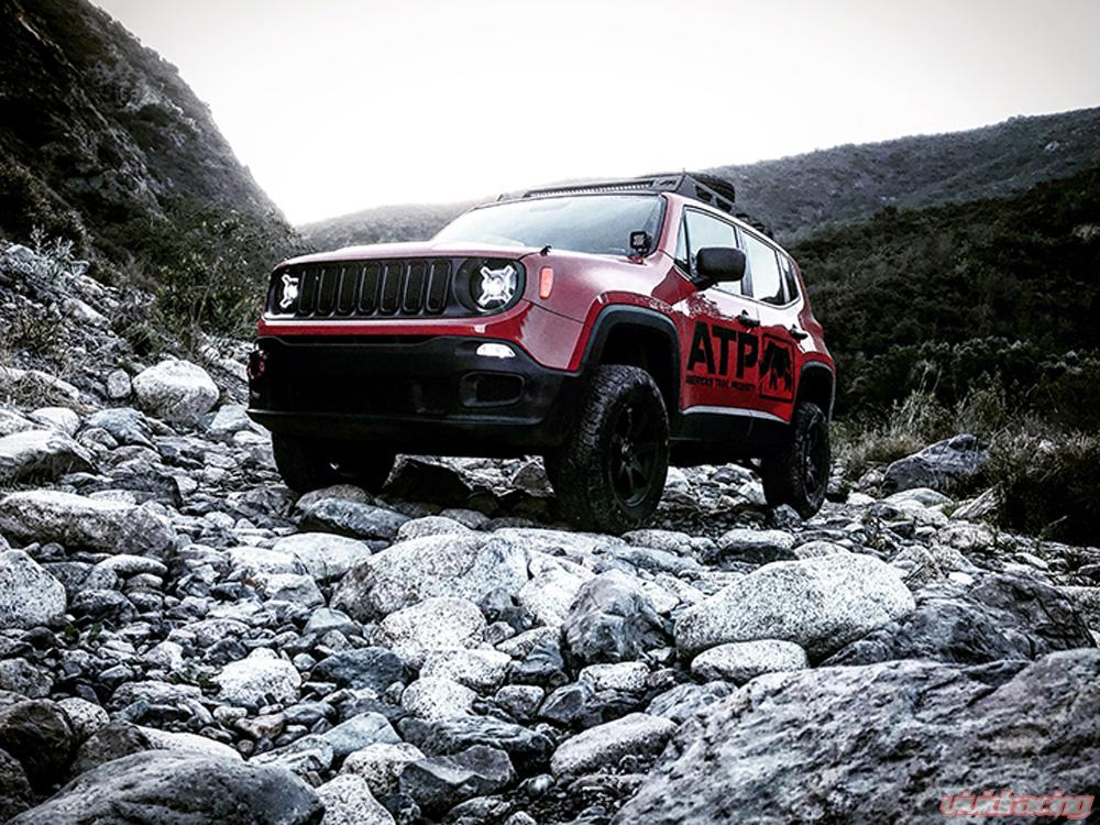 Jeep Renegade Lifted >> Jeep Renegade Compass 4 Inch Lift Kit 4wd Only Black Kit American Trail Products