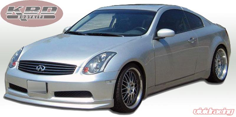 06-07 Fits Infiniti G35 Coupe IL KBD Urethane Front Body Kit Bumper Lip 37-2133