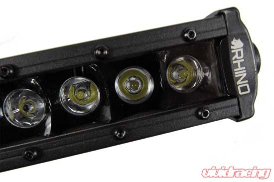 8 Inch LED Light Bar Single Row Straight 3D Cree LED Light Bar Flood Beam  Rhino Lights