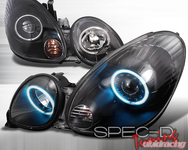 SpecD Black CCFL Halo Projector Headlights Lexus GS300/400 98 05   3LHP