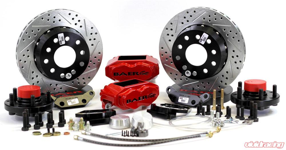 Brake System 11 Inch Front SS4+ Red 73-74 Mopar/Dodge/Plymoutn E and B Body  BAER Brakes