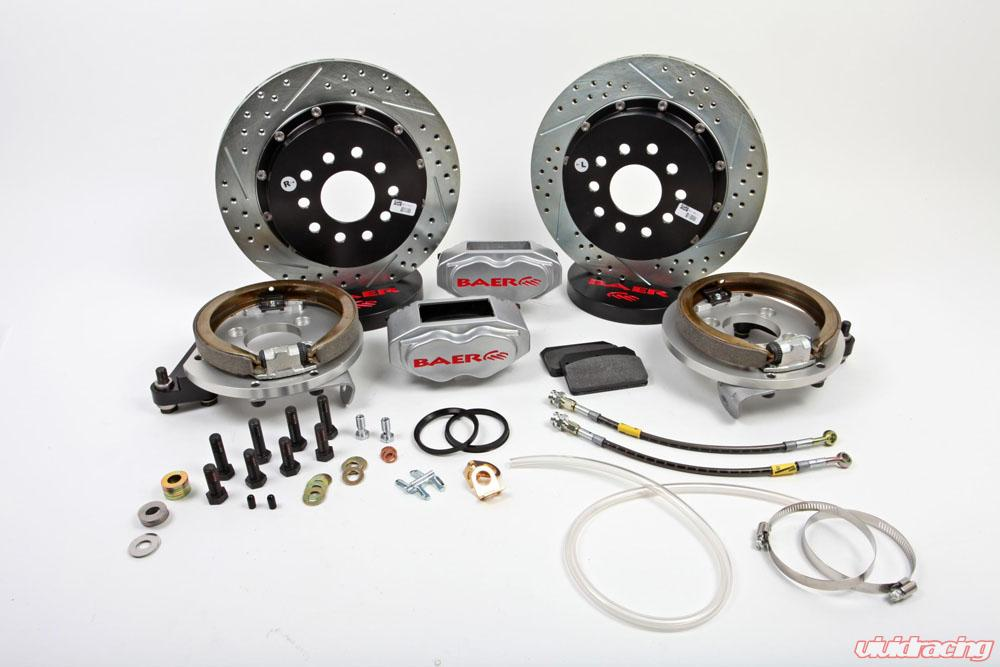 Brake System 13 Inch Rear SS4+ w/Park Brake Silver 98-02 GM F Body BAER  Brakes