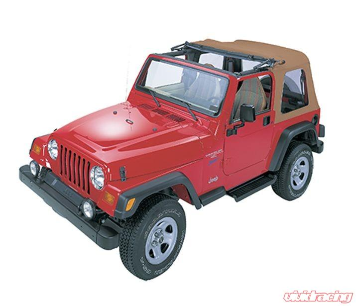 Jeep Wrangler Soft Top >> Jeep Tj Soft Top Sunrider W Clear Windows 97 02 Jeep Wrangler Tj Spice Kit Bestop