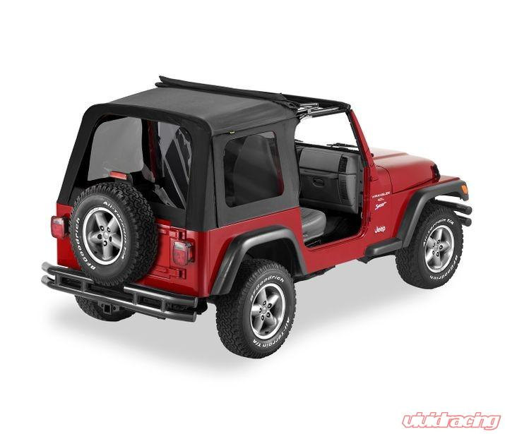 Jeep Wrangler Soft Top >> Jeep Tj Soft Top Sunrider W Clear Windows 03 06 Jeep Wrangler Tj Black Diamond Kit Bestop