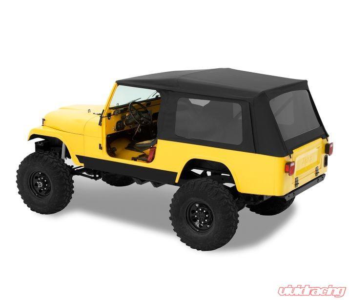 Jeep Cj 8 Soft Top Supertop Classic W Tinted Windows No Doors 81 85 Jeep Scrambler Cj 8 Black Denim Kit Bestop
