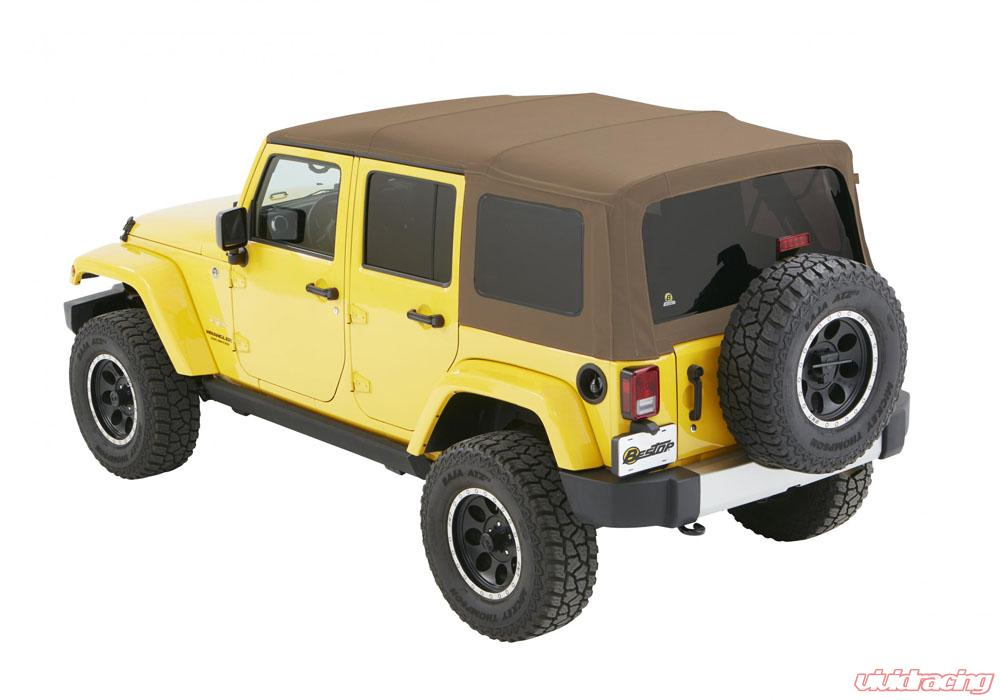 Jeep Wrangler Unlimited Soft Top >> Jeep Jk Unlimited Soft Top Supertop Nx W Tinted Windows 07 17 Jeep Wrangler Jk Unlimited 4 Door Oak Tan Twill Kit Bestop