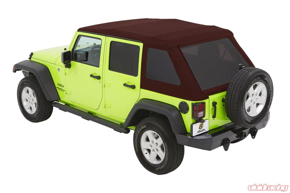 54923 68 Jeep Jk Unlimited Soft Top Trektop Nx Glide 07 17 Jeep