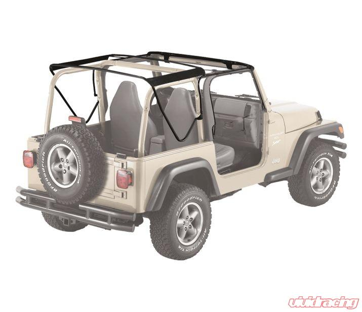 Jeep Yj Soft Top Replacement Bow Kit 88 95 Jeep Wrangler: Jeep TJ Soft Top Replacement Bow Kit 97-06 Jeep