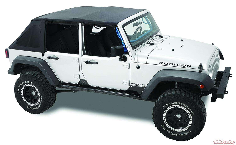 Jeep Jk Soft Top >> Jeep Jk Sprint Frameless Soft Top 07 09 Wrangler Jk 4 Door Black Diamond Point Fabric Pavement Ends By Bestop