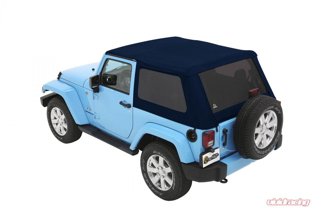 Jeep Soft Tops >> Jeep Jk Soft Top Trektop Nx Plus 07 17 Jeep Wrangler Jk 2 Door Navy Blue Twill Kit Bestop