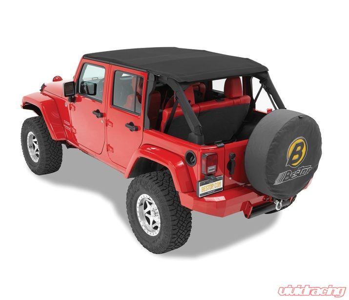 Jeep Wrangler 4 Door Soft Top >> Jeep Jk Unlimited Soft Top Trektop Nx Twill 07 17 Jeep Wrangler Jk Unlimited 4 Door Black Twill Kit Bestop