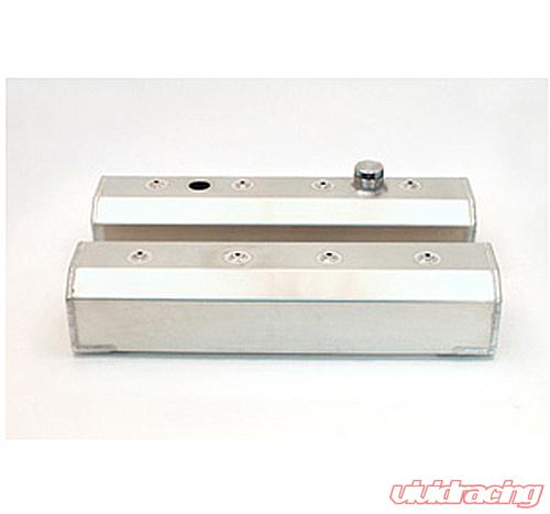 Canton Racing SBC Centerbolt Fabbed Aluminum Valve Covers with Fill & Pcv