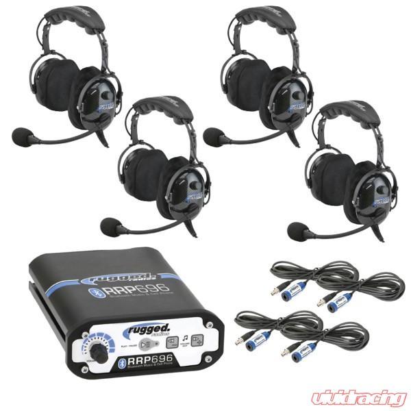 Rugged Radios RRP696 4-Place Intercom with 60 Watt Radio and OTU Headsets