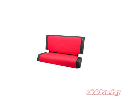 Corbeau TJ 03 06 Jeep Seat Covers Black Vinyl Red Cloth