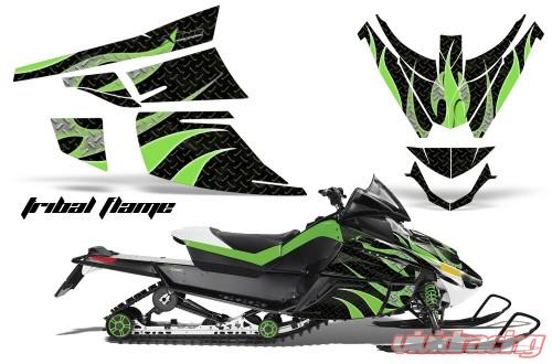 AMR Racing Graphics Snowmobile Graphics Kit Sled Decal Wrap Tribal Green  Arctic Cat Z1 Turbo 06-12