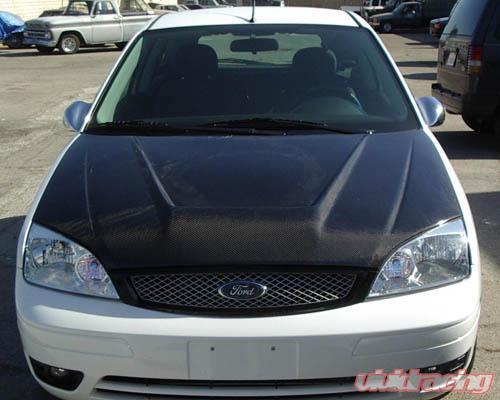 Advan Carbon Intruder Design Carbon Fiber Hood Ford Focus 05 07
